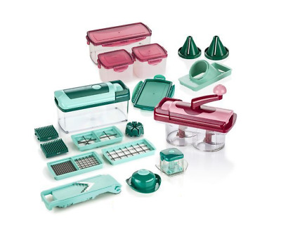 genius nicer dicer chef deluxe set 34 teile obst gem seschneider eur 136 85 picclick de. Black Bedroom Furniture Sets. Home Design Ideas