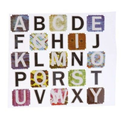 DIY Colorful Letters T-shirt Iron On Transfer Wall Sticker for Kids Crafts