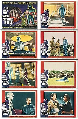 THE DAY THE EARTH STOOD STILL Complete Set of 8 Individual 8x10 LC Prints 1951
