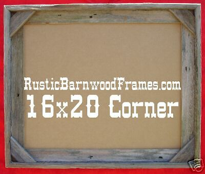 16x20 C rustic barnwood barn reclaimed primitive wood wooden picture photo frame