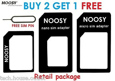 NOOSY® 4 IN 1 Pack Nano To Micro & Standard Sim Card Adapter For Mobile Phone