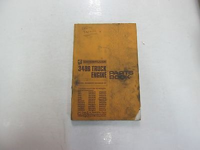 CATERPILLAR 3406 TRUCK Engine Serial Numbers 92U14043-UP Parts Book STAIN  DAMAGE