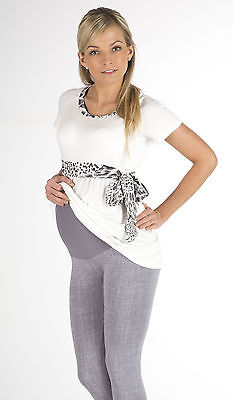 Very Comfortable Grey Snake Print Maternity Pregnancy Leggings Sizes 8-34