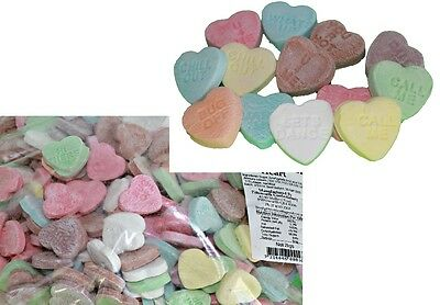 Bulk Lollies 2 kg x CONVERSATION HEARTS Sweets Party Favours Candy Wedding