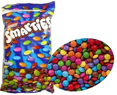 Bulk Lollies 1 kg x Nestle Smarties Party Favour Sweets Candy Milk Chocolates