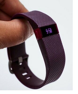 Fitbit Charge HR Wireless Tracker Monitor Wristband Heart Rate -Large-u Purple