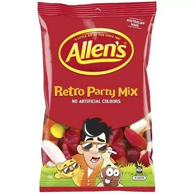 ALLENS RETRO PARTY MIX 1 kg LOLLIES BULK PARTY FAVOR SWEETS CANDY BUFFET LOLLY