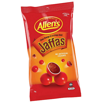 ALLENS JAFFAS 1kg LOLLIES BULK PARTY FAVOR SWEETS CANDY BUFFET LOLLY FAVOUR BAGS