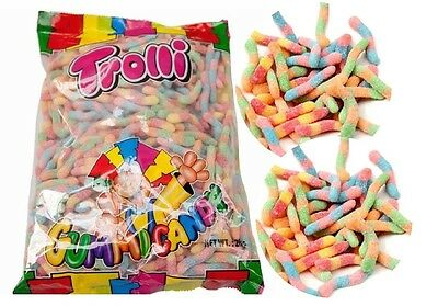2 kg x Trolli Brite Crawlers Lollies Bulk Party Favours Sweets Party Favor Candy