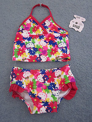 Baby girl swimmers swimwear togs bathers 2 PIECE SET NEW size 1 Hello Kitty