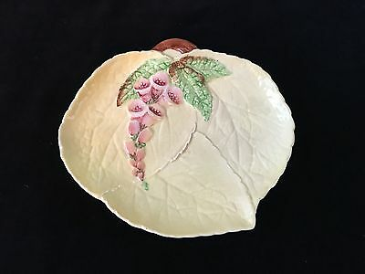 """Carlton Ware yellow and floral (foxglove) dish """" Made in England"""""""