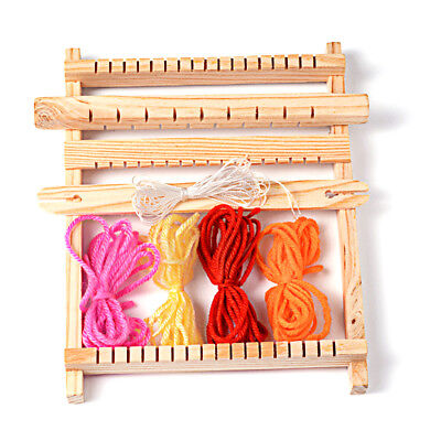 1Set Warp Weft Adjusting Rods Combs and Shuttles Wood Knitting Looms with Yarns