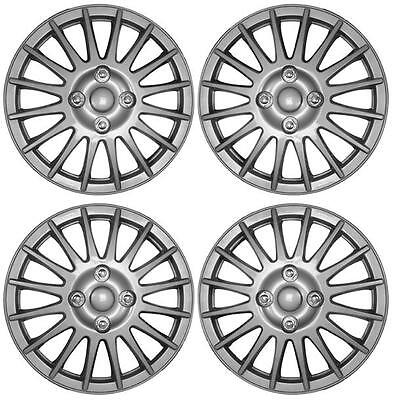 """Set of 4 14 Inch 14"""" Hub Cap Wheel Trims for Nissan Micra K12 2002 to 2011 UX35"""