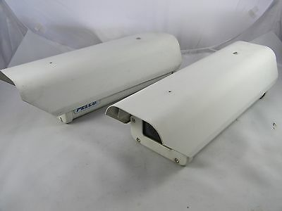 (2) Pelco Security Surveillance Camera Enclosure With Heater, Blower & Defroster