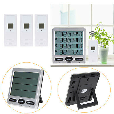 Ambient Wireless Weather WS-10 Indoor Outdoor Thermo-Hygrometer 3Remote Sensors