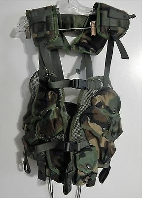 US Military Issue Enhanced Tactical Load Bearing Vest LBV Woodland Camo NEW