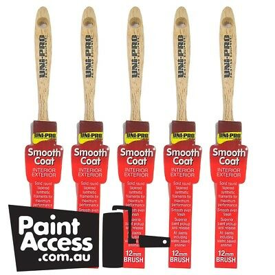 Uni-Pro Paint Brushes Smooth Coat Wall Brush 12mm (pack of 5)