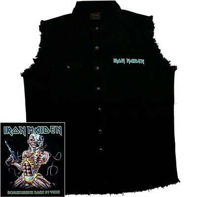 Iron Maiden Somewhere Back In Time Official Black Sleeveless Work M L XL