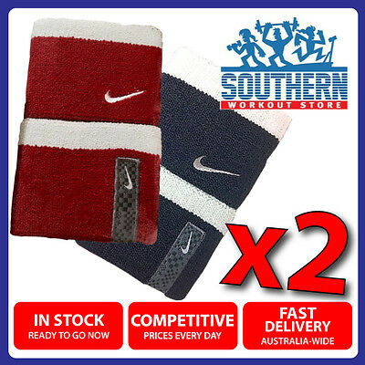 Double Deal Nike Premier Wrist Sweat Bands 2 Pack High Absorbency Nylon One Size
