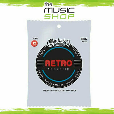 New Martin Retro Series 12-54 Acoustic Guitar Strings for Vintage Tone - MM12
