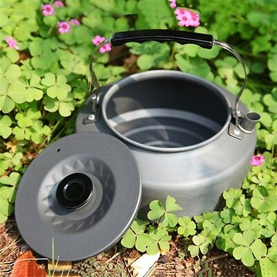 Outdoor Home Pot Camping Fire Stove Tea Coffee Kettle Picnic Cookware 1.6L AU