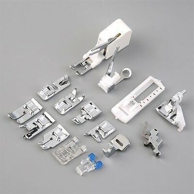New 15 Piece Low Shank Sewing Machine Presser Feet Set Walking Foot Kit AU