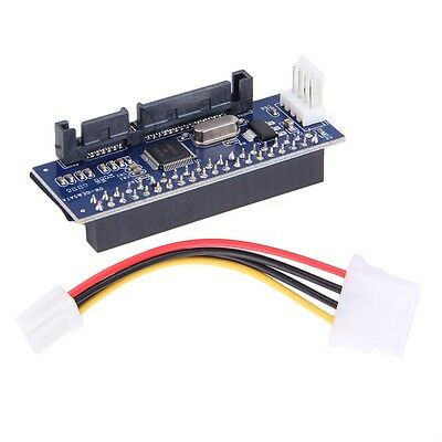 40-Pin IDE Female To SATA 7+15Pin 22-Pin Male Adapter PATA TO SATA Card AU