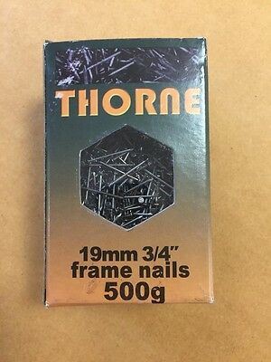 19mm gimp pins, Bright Steel (APPROX-500g box) -beehive frame nails/upholstery