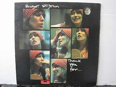 BRIDGET ST. JOHN Thank You For...1972 UK DANDELION RECORDS VINYL LP Free UK Post
