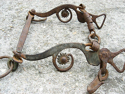 Vtg Rare Antique Ottoman Empire Hand Made Horse Mouth Bit Bridle W/ Bronze Layer