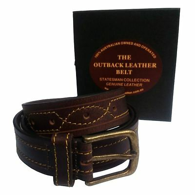 Genuine Australian 100% Real Leather Belt Full Grain Quality Buckle Aussie