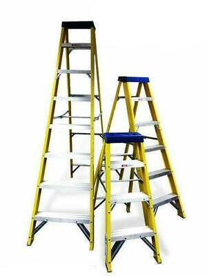 Electricians Safety Step Ladders Glassfibre 4, 5, 6, OR 7 Tread Lightweight