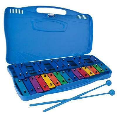Ravel Glockenspiel Kid's 25 Note Xylophone Bells w/ Molded Case