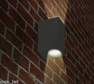 New Grey Outdoor/Indoor GU10 Wall Light Fitting Up and Down Light IP44