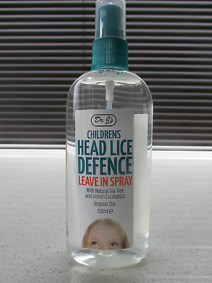 Childrens Adults Dr J's Head Lice Nit Defence Leave In Spray 150ml   NEW