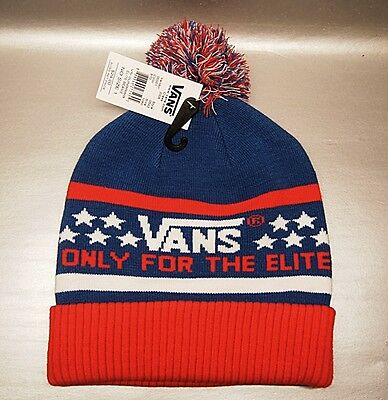 787b50ef49b114 VANS ELITE BEANIE with Pompom Red White Blue OSFA MSRP  24 -  24.00 ...