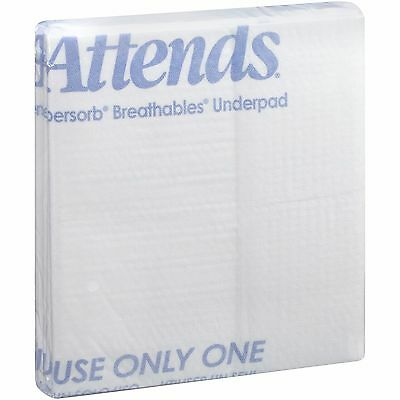 "Underpad Attends Supersorb Breathables, 30"" X 36"", Heavy Absorbency - Pack of 5"