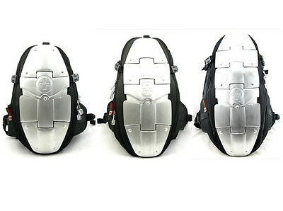 New 1PC Back Spine Protector Motorcycle ALUMINUM ARMOR Backpack Bag Black S M L