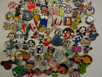 Disney Pin Lot of 100 Trader Pins Authentic Logo Great for Trading in the parks!