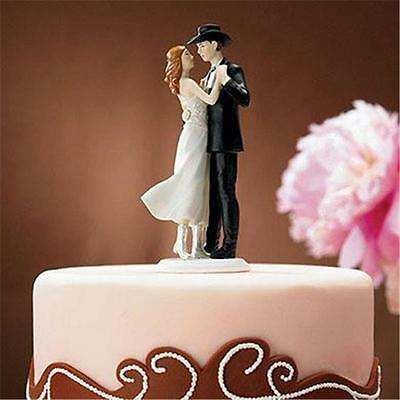 Country Sweet Western Embrace Cowgirl Cowboy Wedding Cake Topper Custom Colors