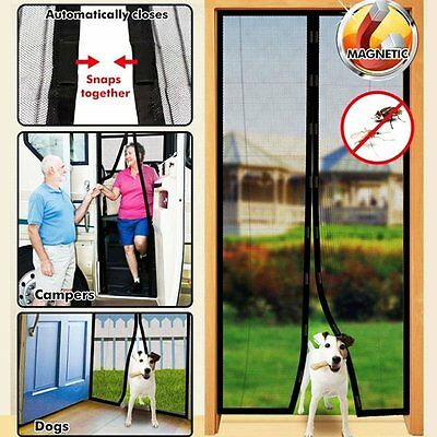 Hands Free Magic Mesh Screen Net Door with magnets Anti Mosquito Bug Curtain AU