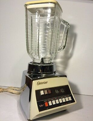 Vintage Osterizer Pulse-matic Imperial 652 Solid-State 10SpBlender!White/Chrome