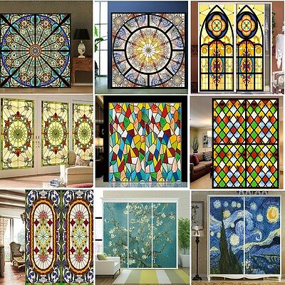 Personalized Stained PVC Frosted Window Glass Film Wallpaper Door Wall Mural DIY