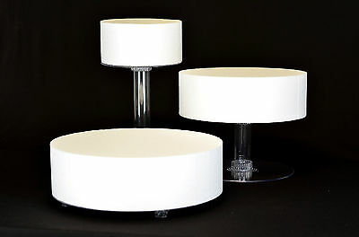 """3 Tier Cascade Wedding Cake Stand  8"""",12"""",14"""" Plate Xl  (Style R303)"""