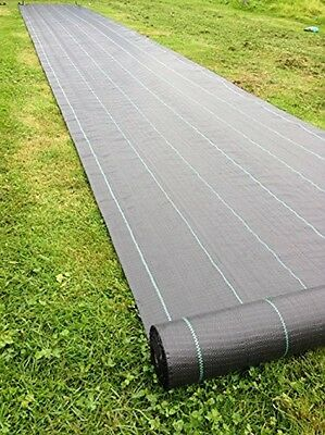 1m x 50m Weed Control Ground Cover Membrane Landscape Fabric Heavy Duty Garden