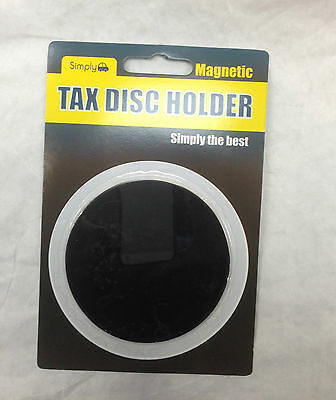 Universal Black Magnetic Tax Disc Holder to Fit All Cars Windscreens jp