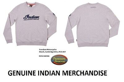 INDIAN MOTORCYCLE - Heritage Sweatshirt - Men's - Grey - 100% Cotton - Logo..