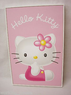 (33947) Cuadro Tabla Marco Infantil Hello Kitty Rosa