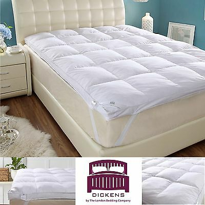 Goose Feather & Down Mattress Topper White, All Sizes Available Dickens