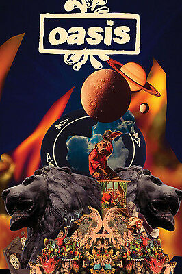 A3/A4 SIZE - Oasis - Planets College ART PRINT POSTER #2